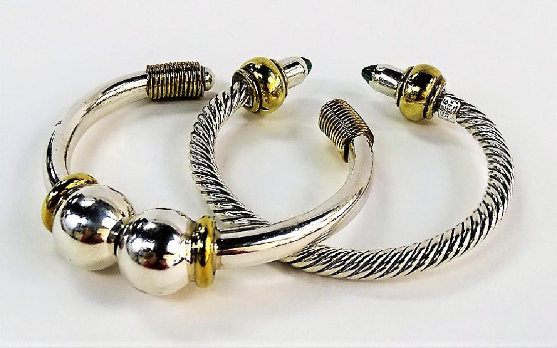 2 VTG MEXICAN STERLING SILVER BANGLE BRACELETS