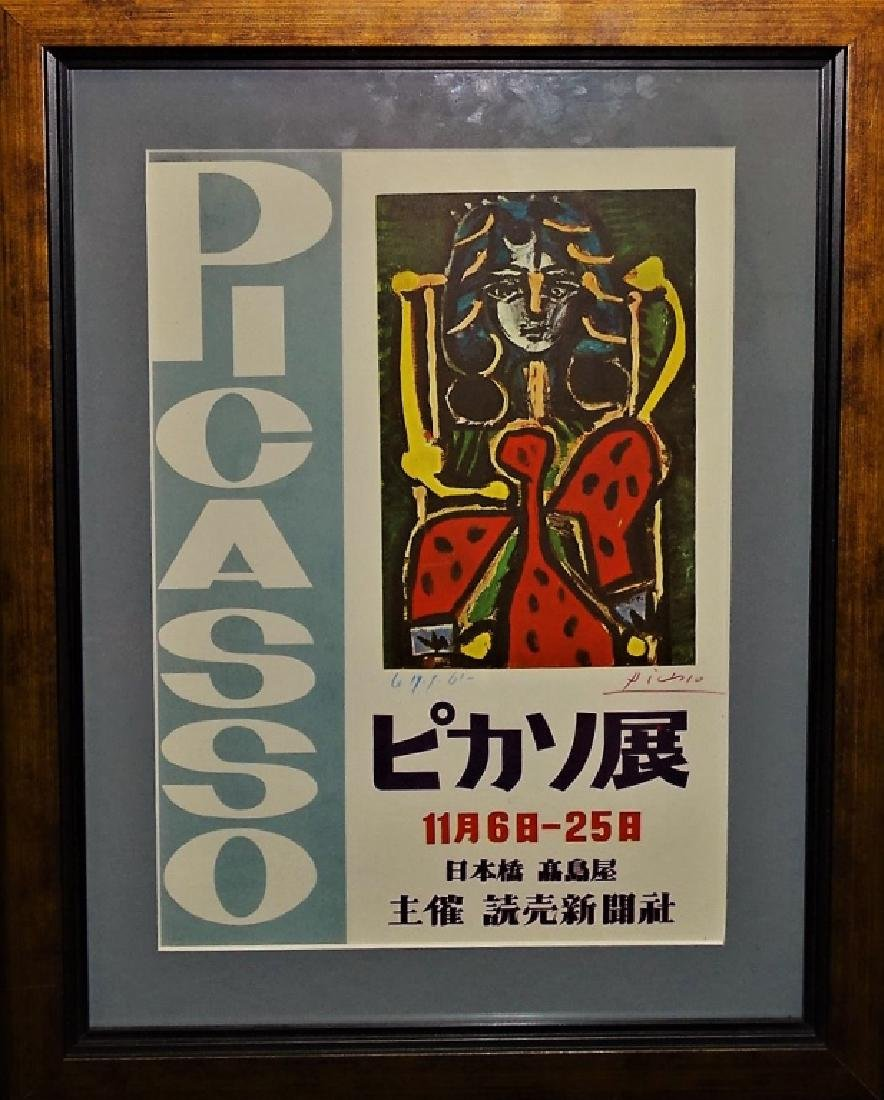 CRAYON SIGNED PABLO PICASSO LITHOGRAPH 1957