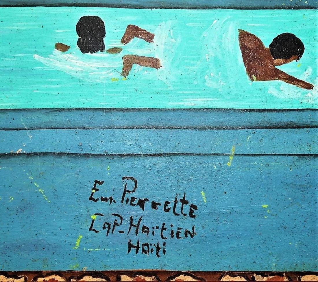 EMMANUEL PIERRETTE OIL ON PANEL GARDEN SCENE PTG - 2