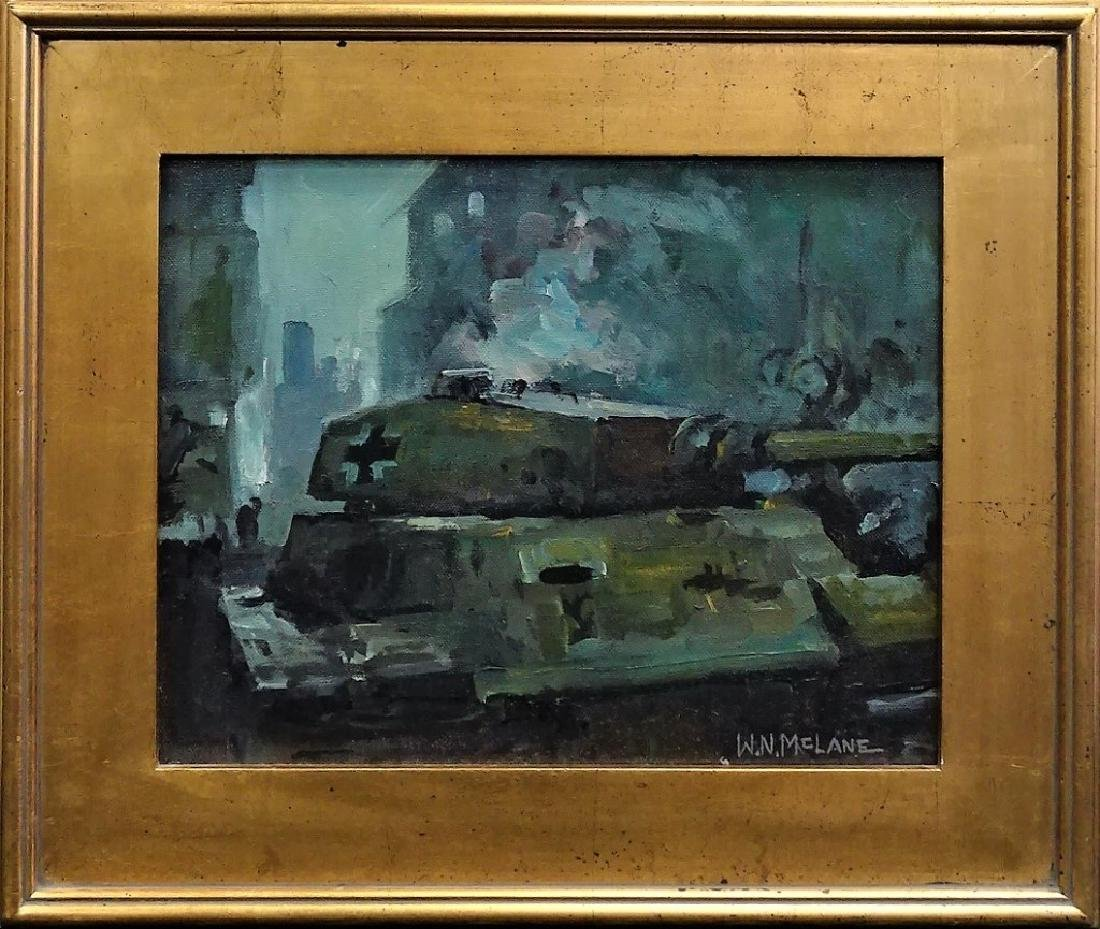 W.N. MCLANE ORIGINAL OIL ON CANVAS PTG OF BERLIN