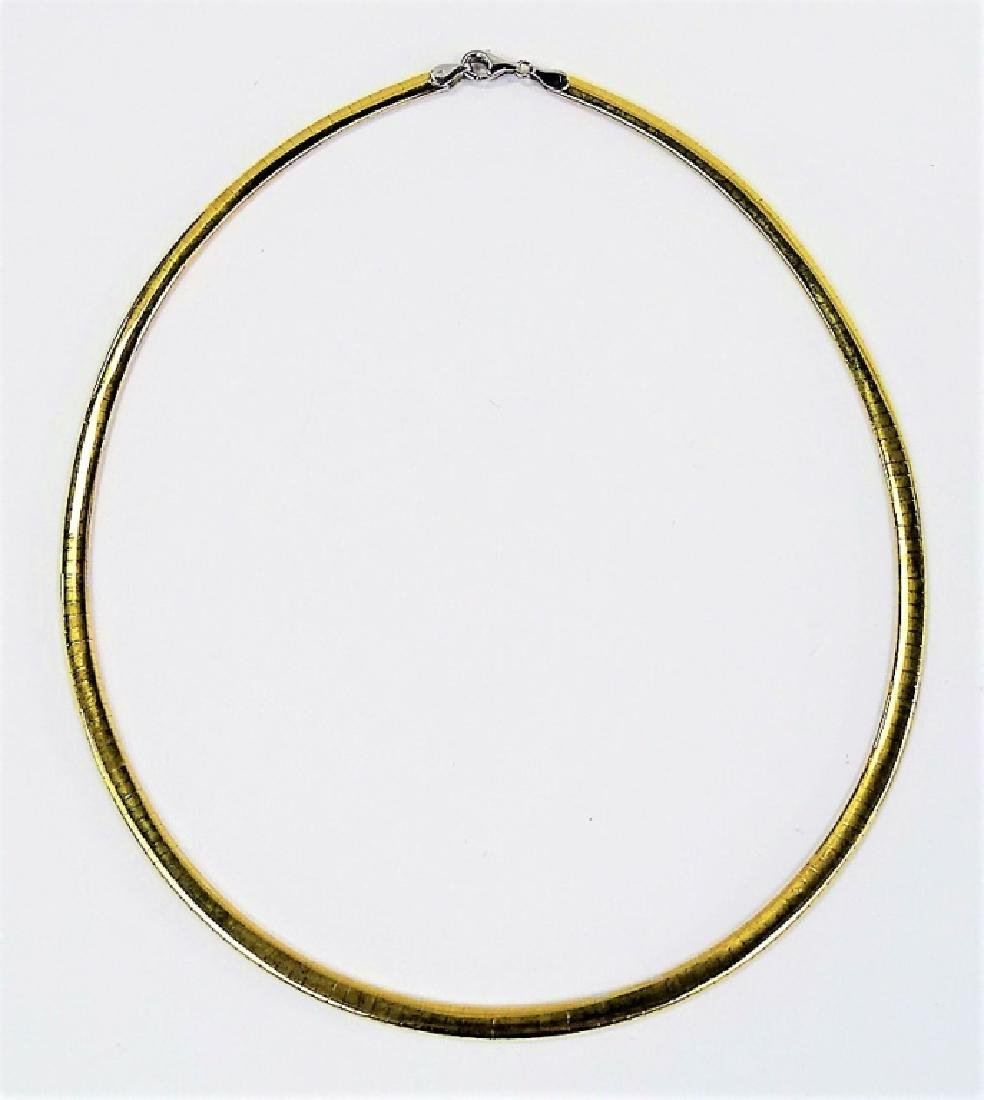 ITALIAN 14KT HERRINGBONE REVERSABLE NECKLACE