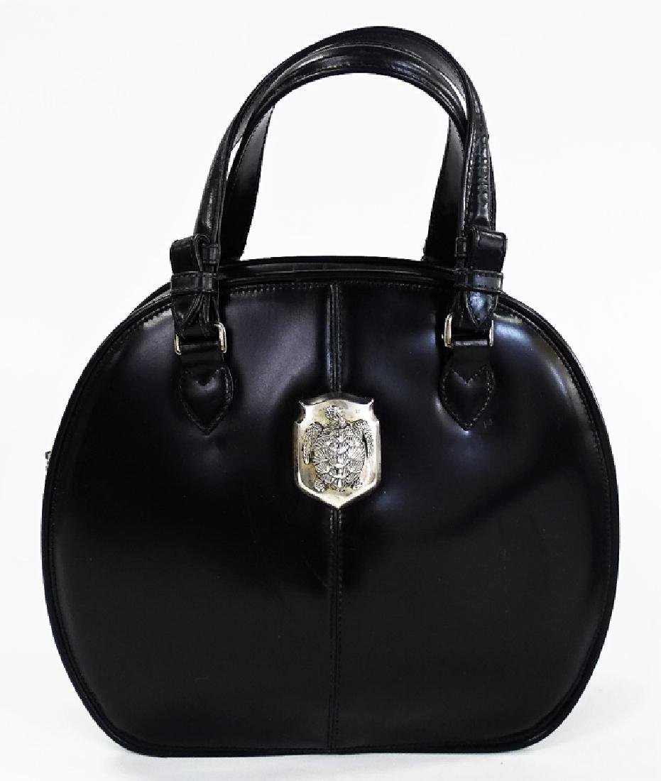 BARRY KIESELSTEIN-CORD BLACK LEATHER HANDBAG