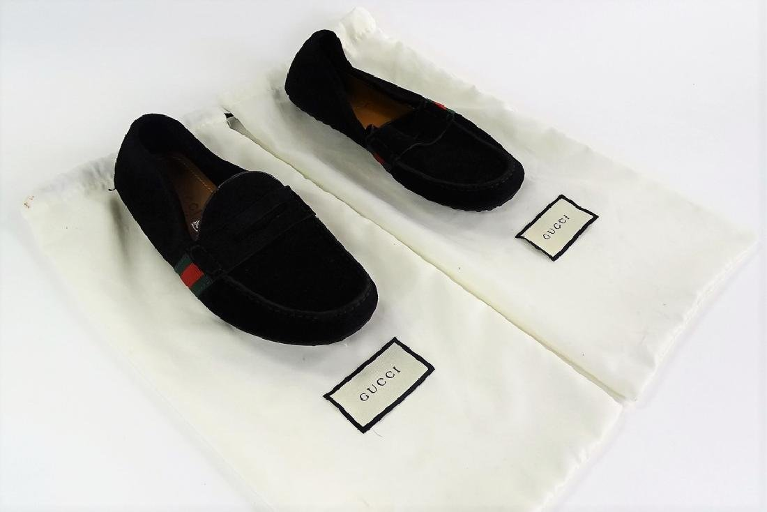 GUCCI KANYE SUEDE WEB DRIVING SHOES