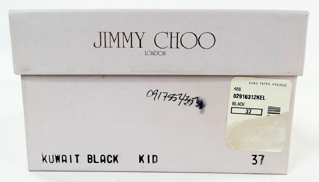 PR JIMMY CHOO LONDON BLACK LEATHER KUWAIT HEELS - 6