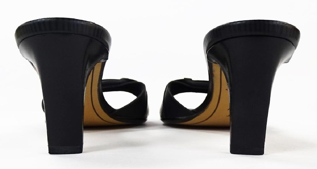 PR LOUIS VUITTON BLACK LEATHER HEELS - 5