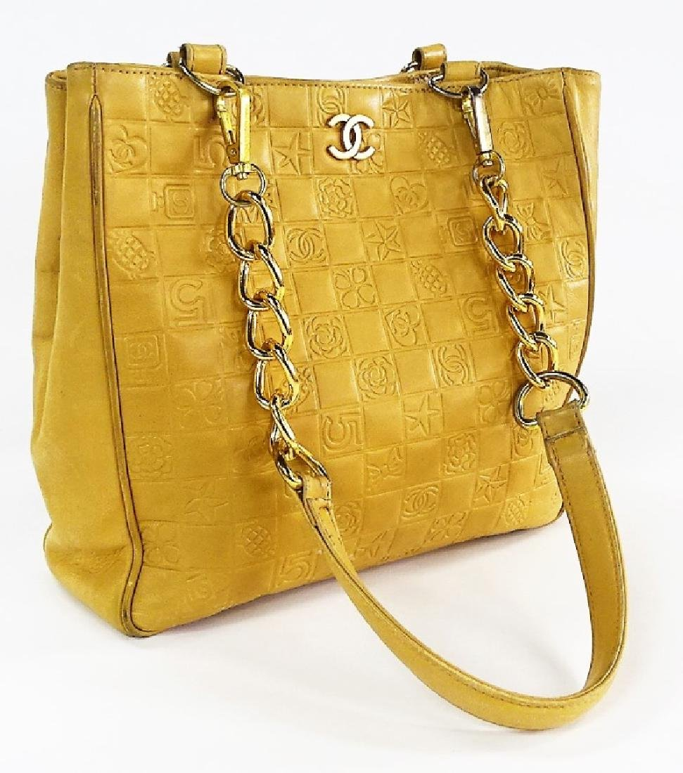 VINTAGE CHANEL BEIGE LEATHER FAIRY TOTE BAG