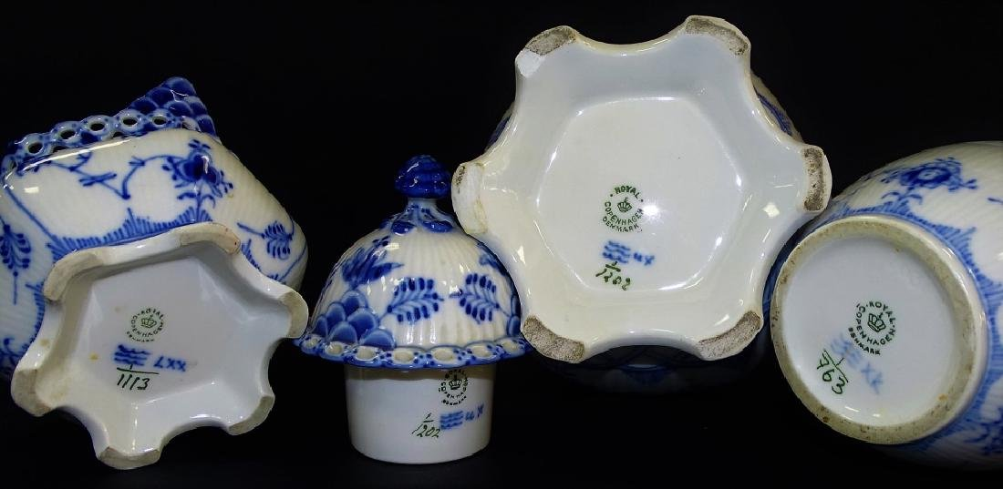 3PCS ROYAL COPENHAGEN BLUE & WHITE COFFEE SERVICE - 3