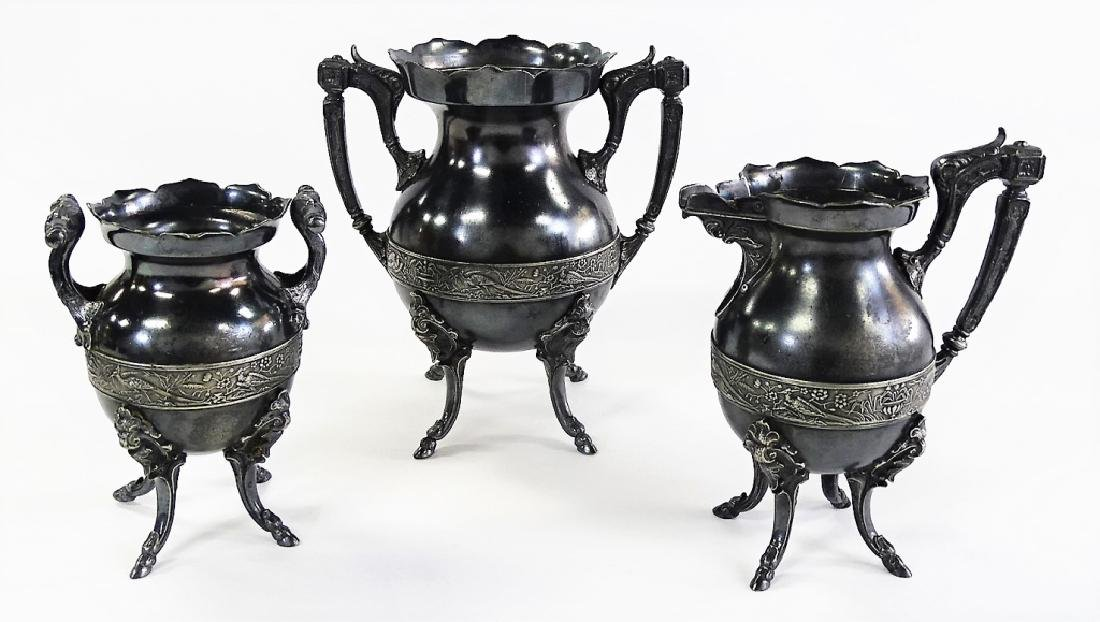 3 ANTIQUE WILCOX & CO. SILVER PLATE TABLE OBJECTS