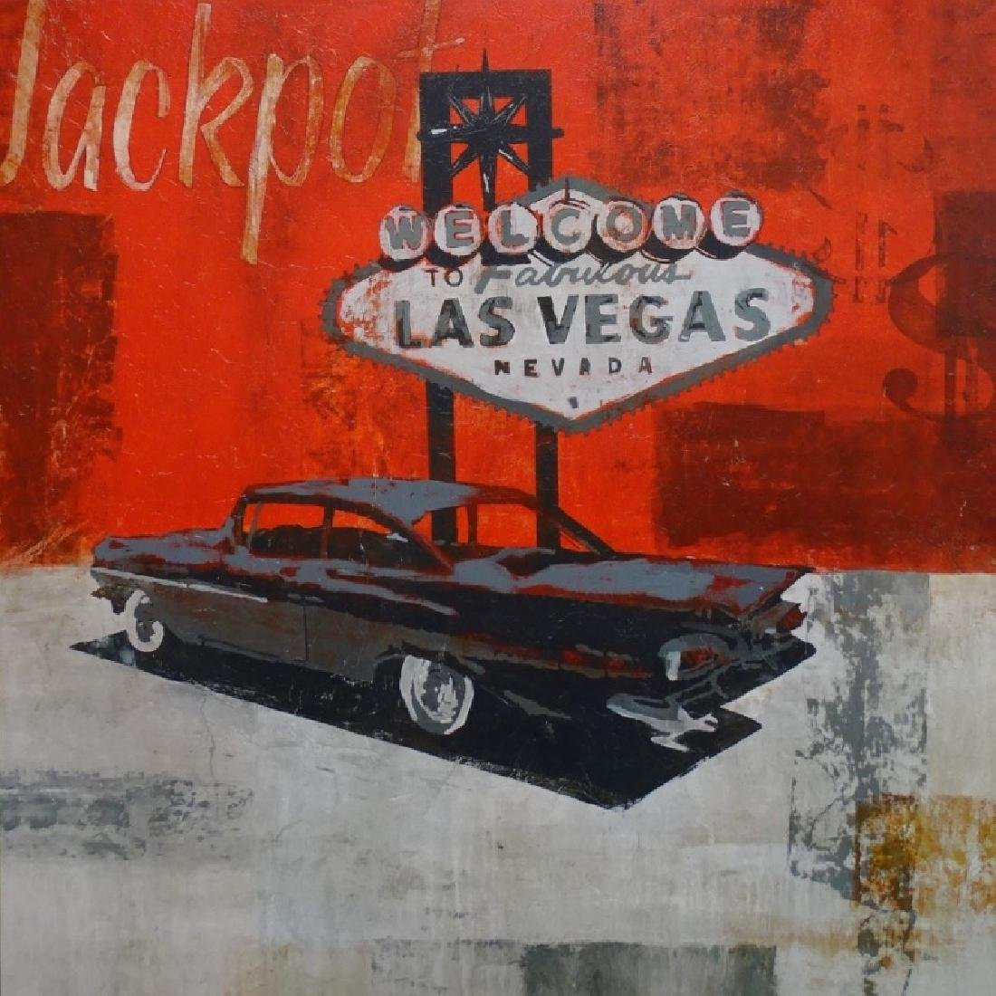 LARGE LAS VEGAS HIGH ROLLER GICLEE ON CANVAS