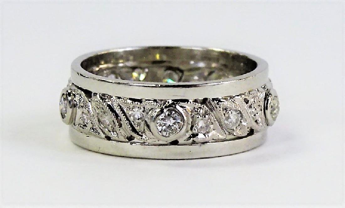 PLATINUM & 1/2 CARAT DIAMOND ETERNITY BAND RING