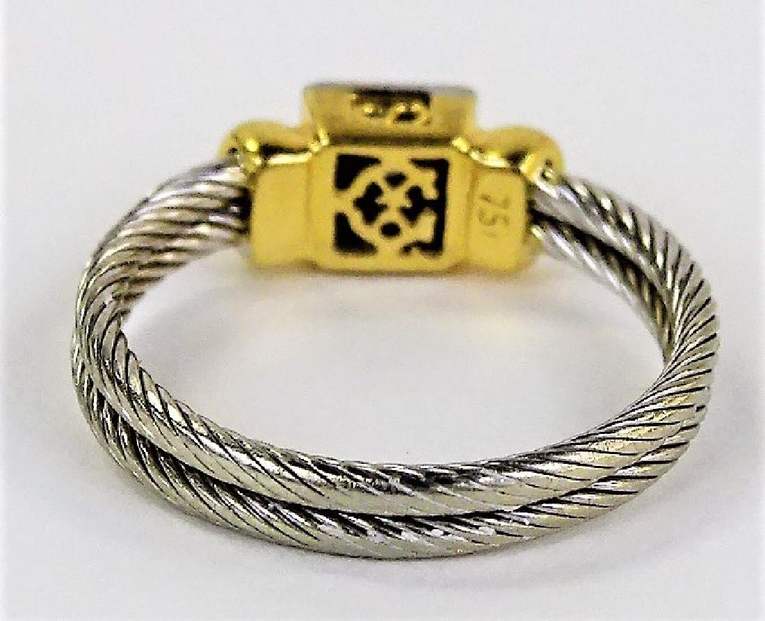 PHILIPPE CHARRIOL 18KT YG & STAINLESS CABLE RING - 4