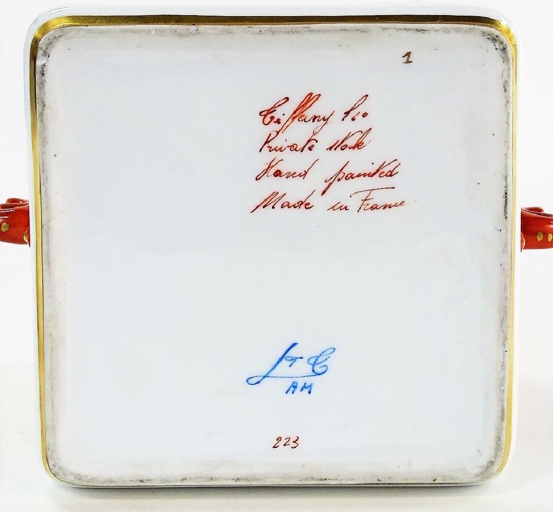TIFFANY SEVRES STYLE ORIENTALIST PORCELAIN BOX - 3