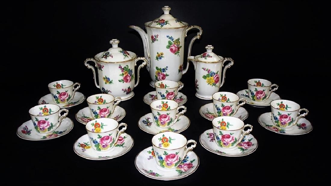 "LOVELY VINTAGE LIMOGES B&C CHOCOLATE SET ""TRIANON"""