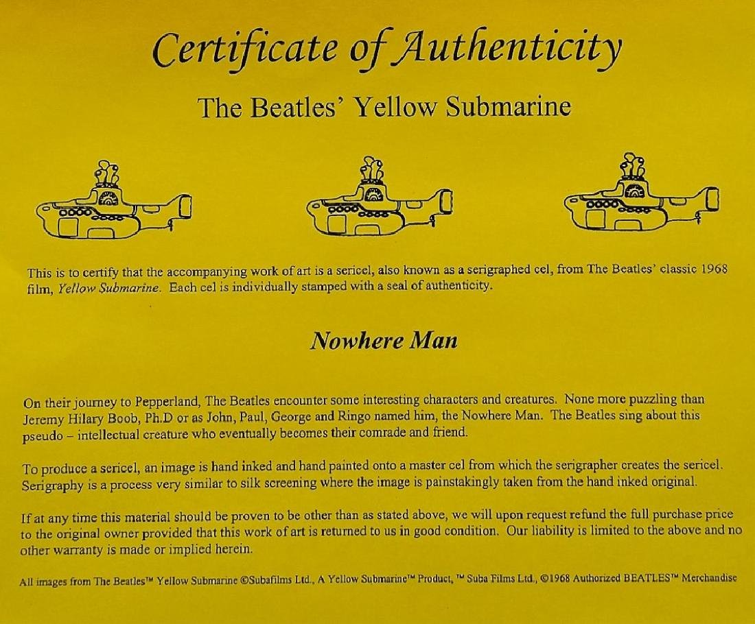 ORIGINAL H/P YELLOW SUBMARINE ANIMATION CEL - 4