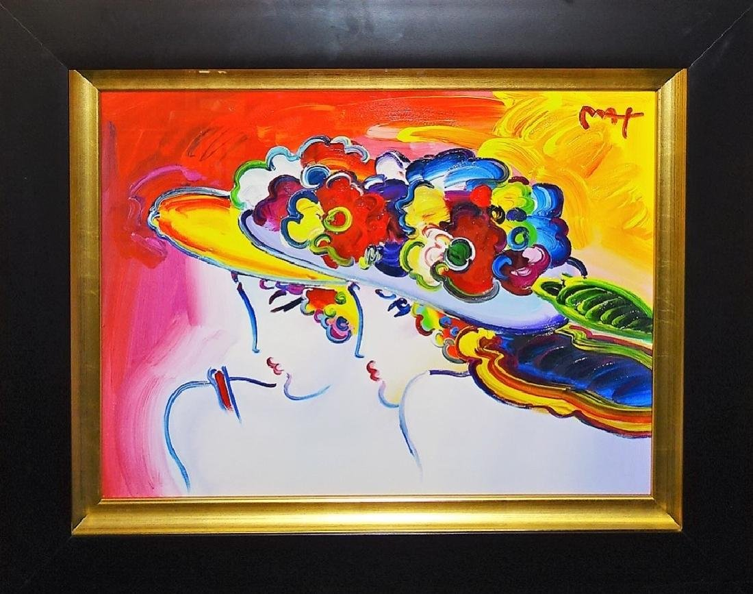 HAND ENHANCED PETER MAX COLOR SERIGRAPH SIGNED