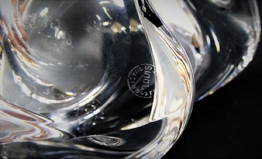 ST. LOUIS SIGNED CLEAR CRYSTAL FREEFORM BOWL - 4