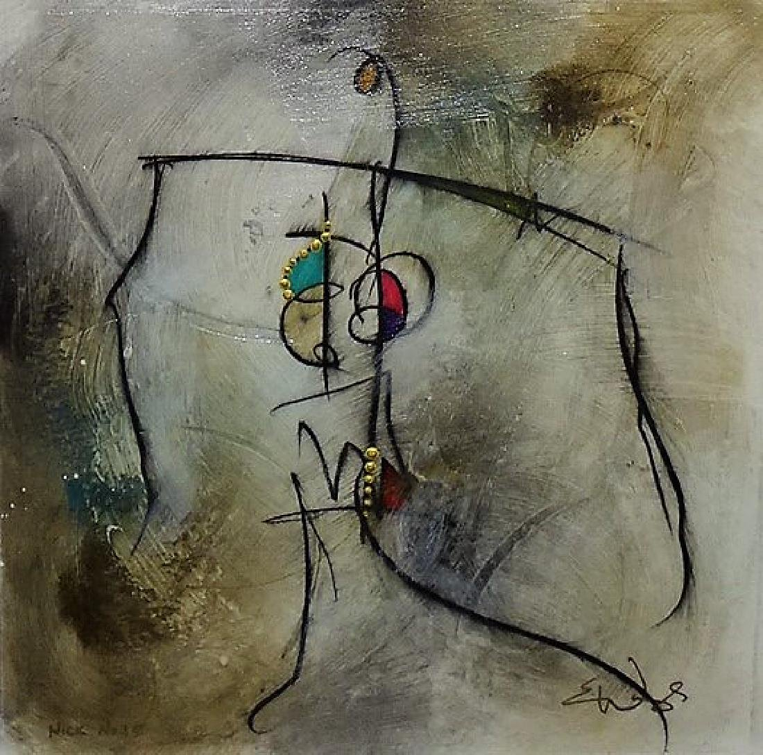 SIGNED CONTEMPORARY MIXED MEDIA ON PAPER