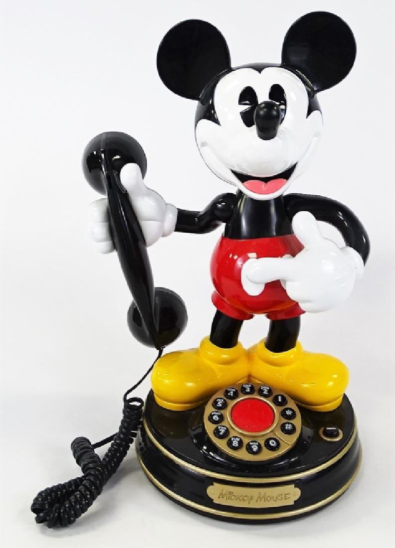 LARGE DISNEY MICKEY MOUSE WORKING TELEPHONE