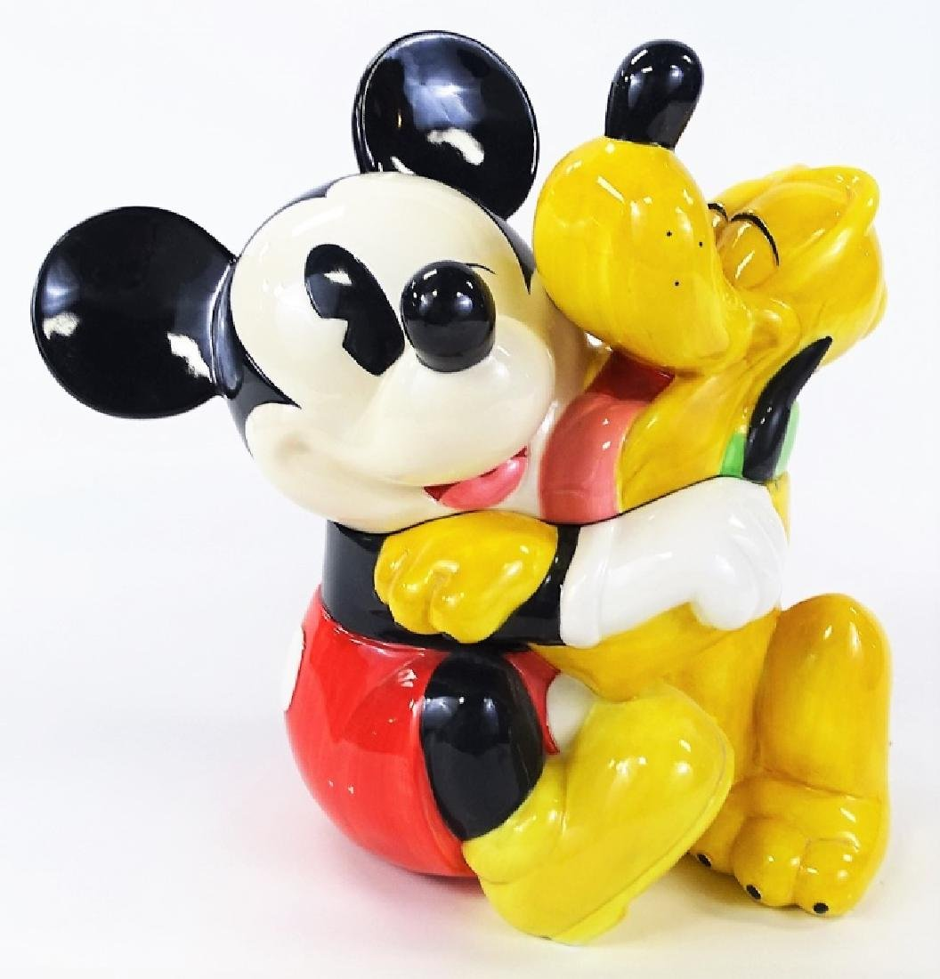 DISNEY LARGE MICKEY MOUSE & PLUTO COOKIE JAR
