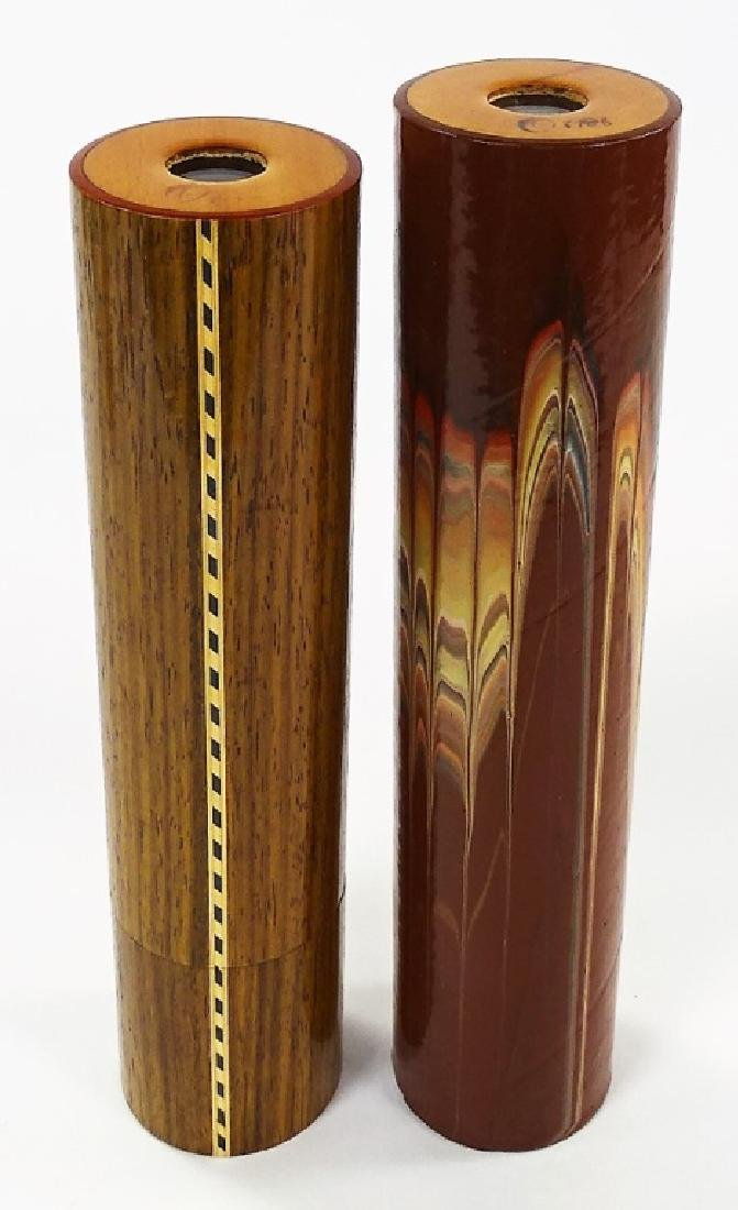 2 VINTAGE LARGE KALEIDOSCOPES TUBES