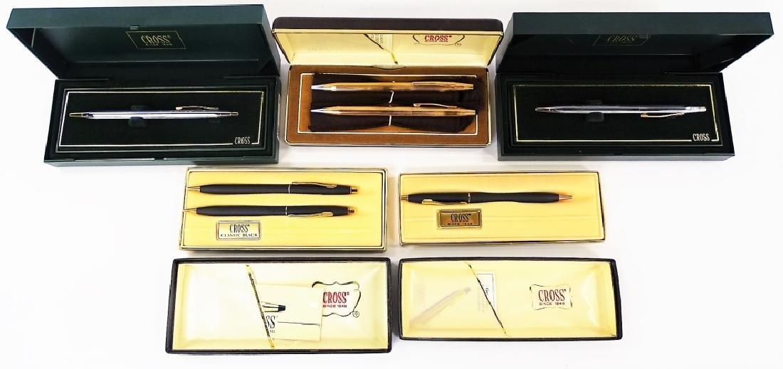 5 BOXES OF CROSS PENS SINGLE & SETS