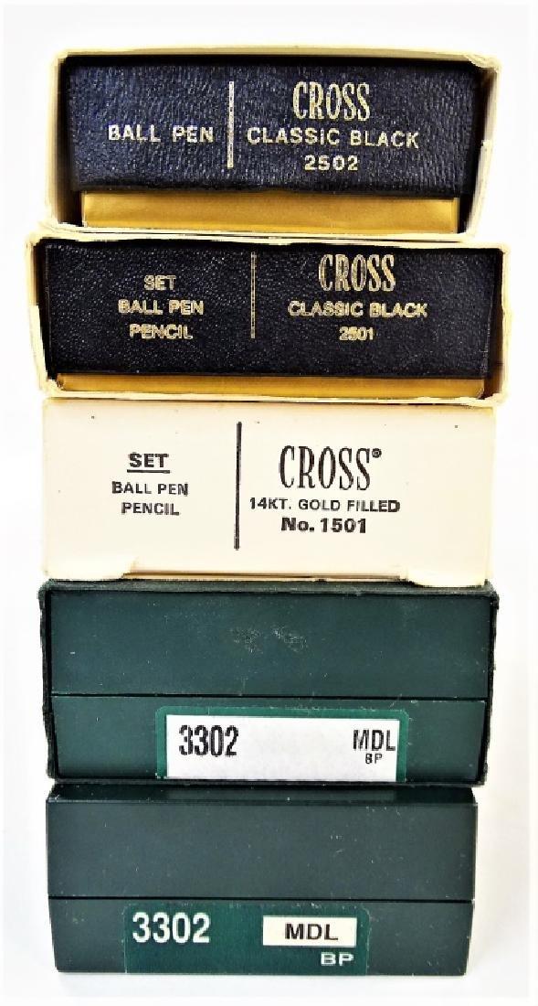 5 BOXES OF CROSS PENS SINGLE & SETS - 2
