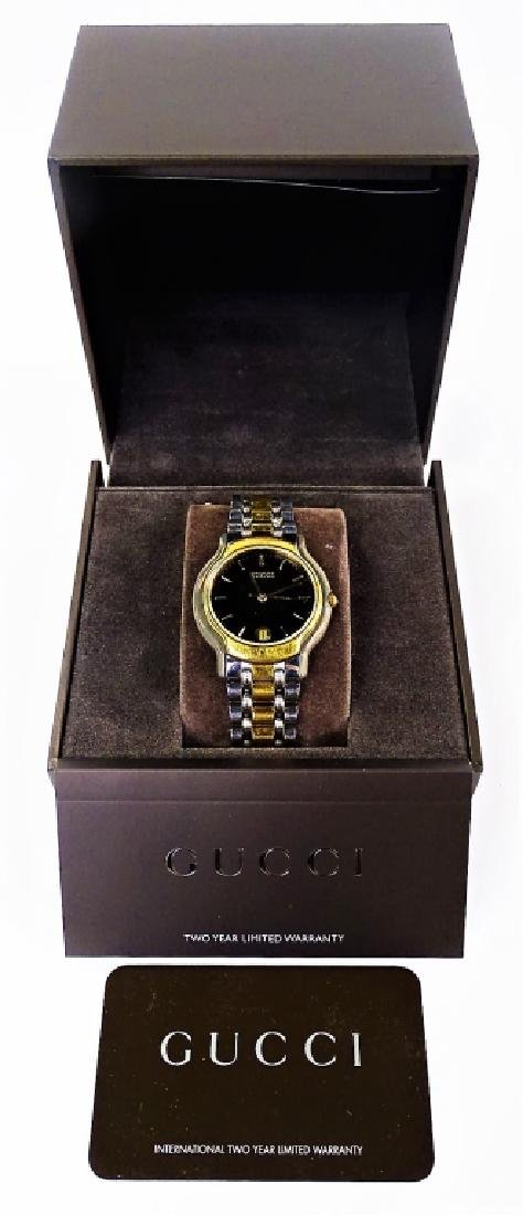 VINTAGE GUCCI TWO TONE STAINLESS STEEL WRISTWATCH