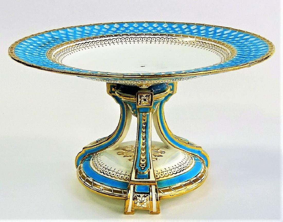 19TH CENTURY MINTON RETICULATED PORCELAIN TAZZA