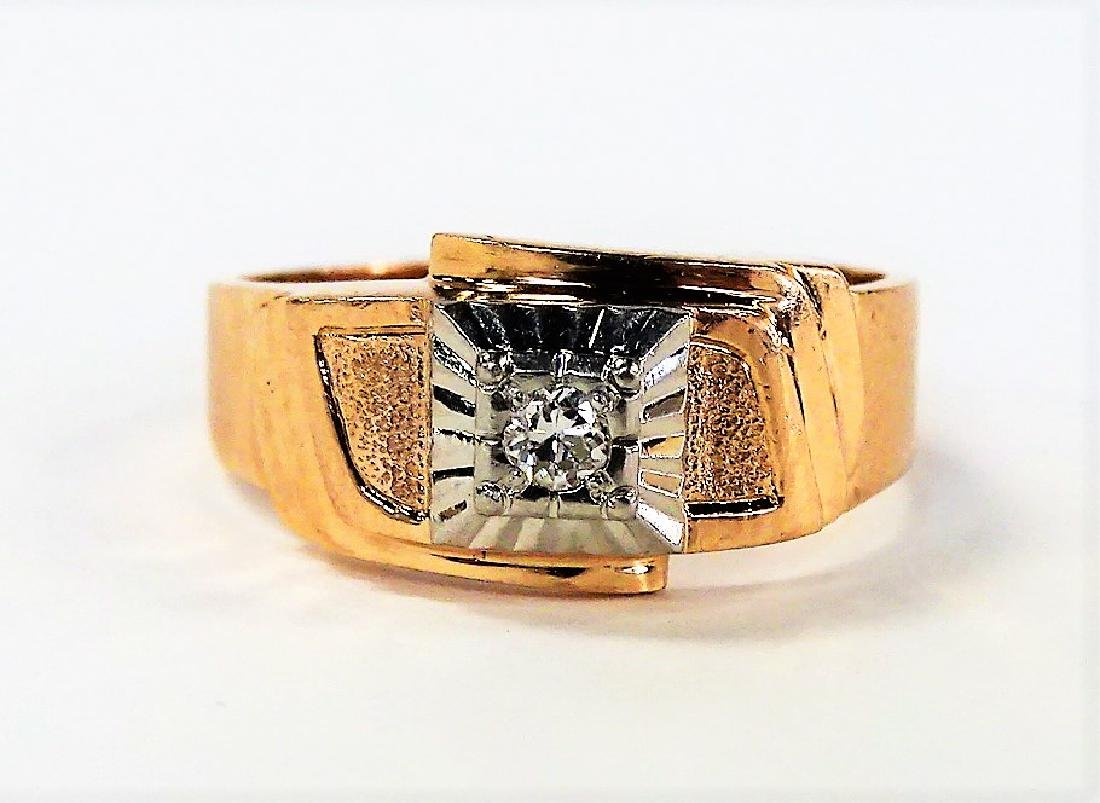 RETRO GENTS 14KT ROSE GOLD DIAMOND RING