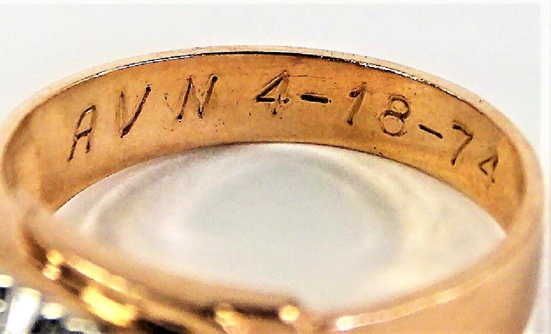 RETRO GENTS 14KT ROSE GOLD DIAMOND RING - 4