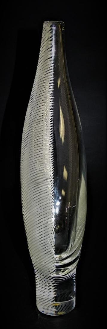 STEUBEN GLASS CONTEMPORARY SIGNED CRYSTAL VASE - 3