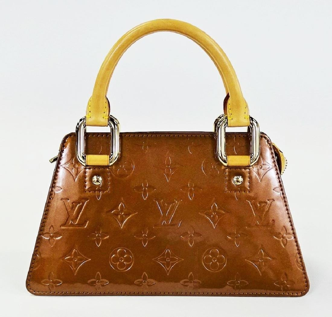 LOUIS VUITTON COPPER VERNIS LEATHER BAGUETTE
