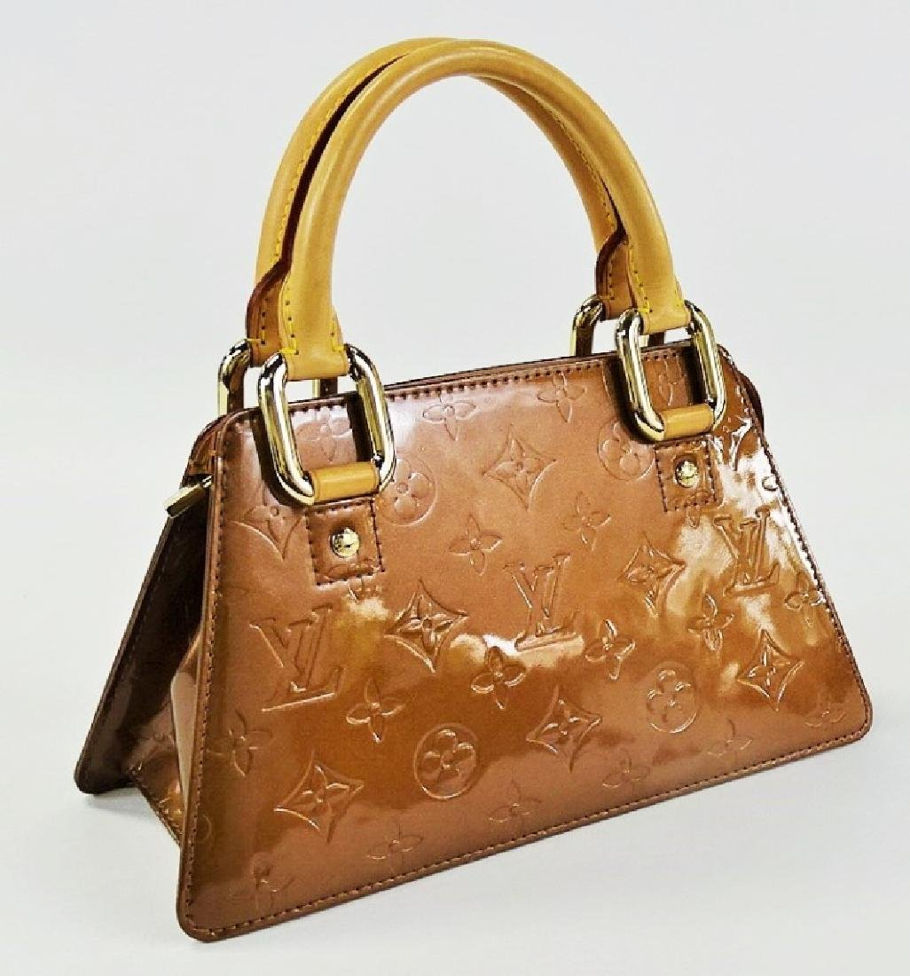 LOUIS VUITTON COPPER VERNIS LEATHER BAGUETTE - 2