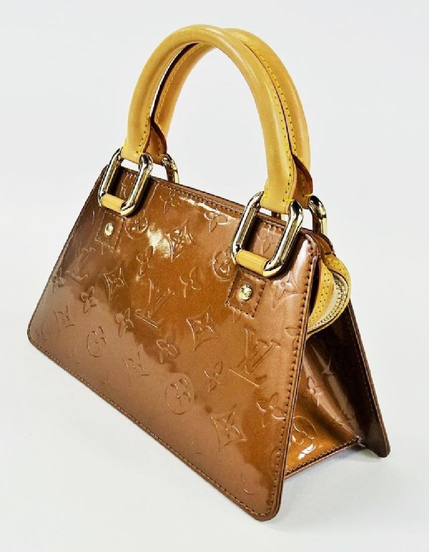 LOUIS VUITTON COPPER VERNIS LEATHER BAGUETTE - 3