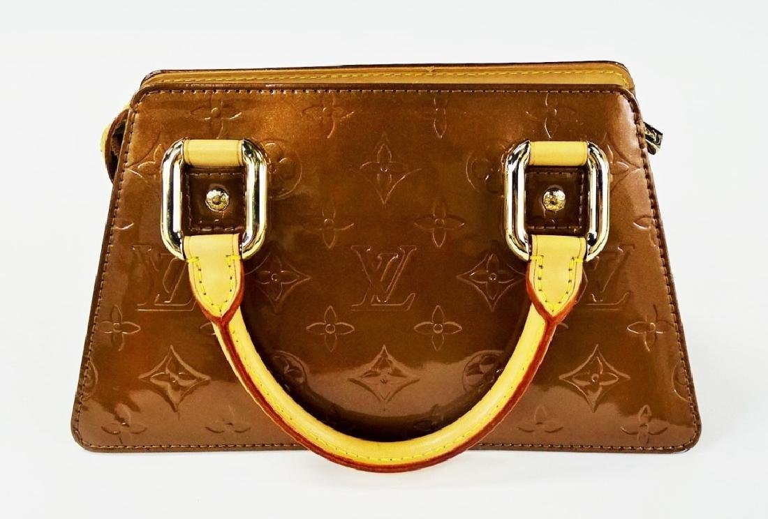LOUIS VUITTON COPPER VERNIS LEATHER BAGUETTE - 4