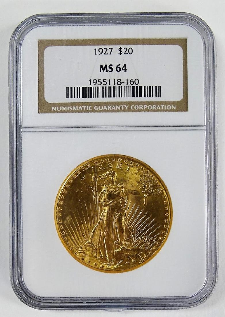 NGC GRADED 1927 SAINT GAUDENS $20 GOLD MINTED COIN