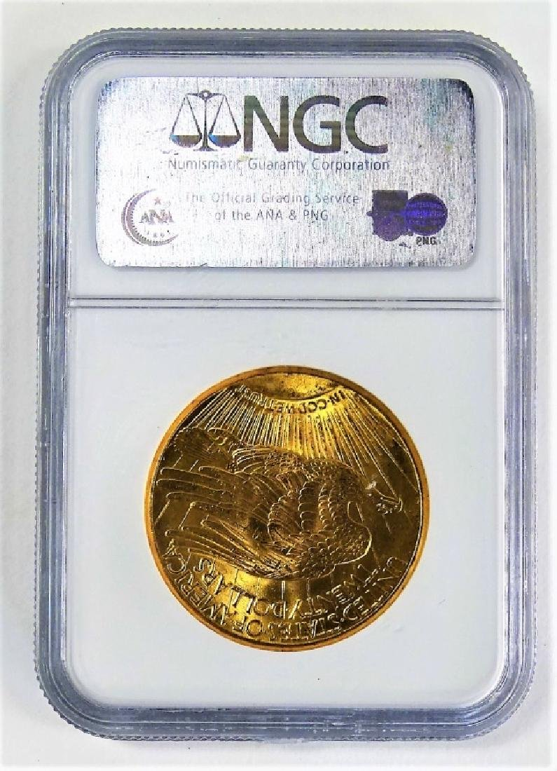 NGC GRADED 1927 SAINT GAUDENS $20 GOLD MINTED COIN - 2
