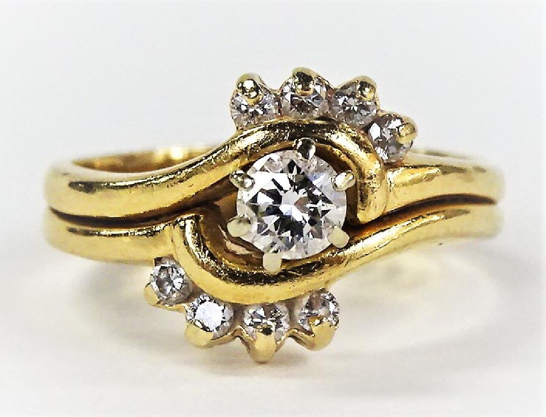 LADIES EXTRAVAGANT 14KT YELLOW GOLD DIAMOND RING