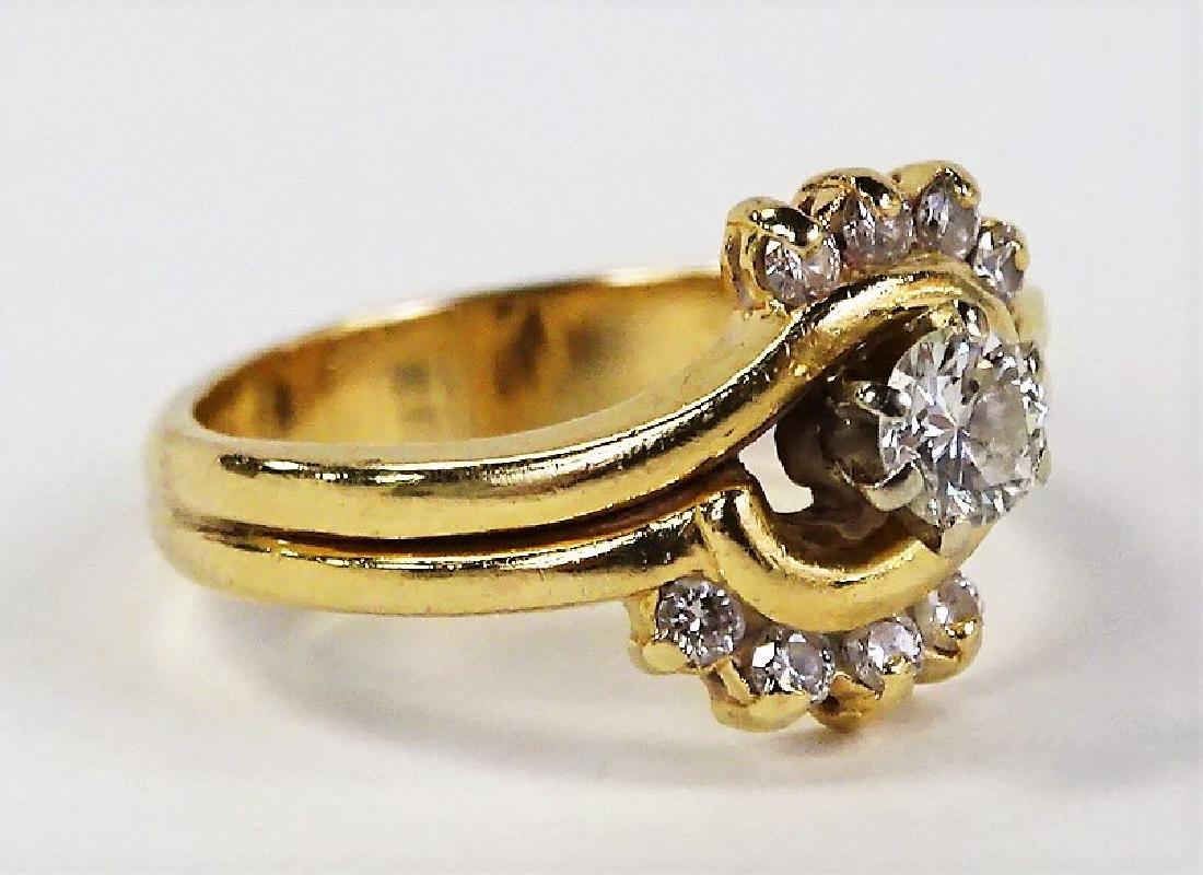 LADIES EXTRAVAGANT 14KT YELLOW GOLD DIAMOND RING - 2