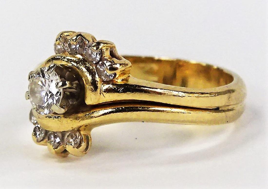 LADIES EXTRAVAGANT 14KT YELLOW GOLD DIAMOND RING - 3