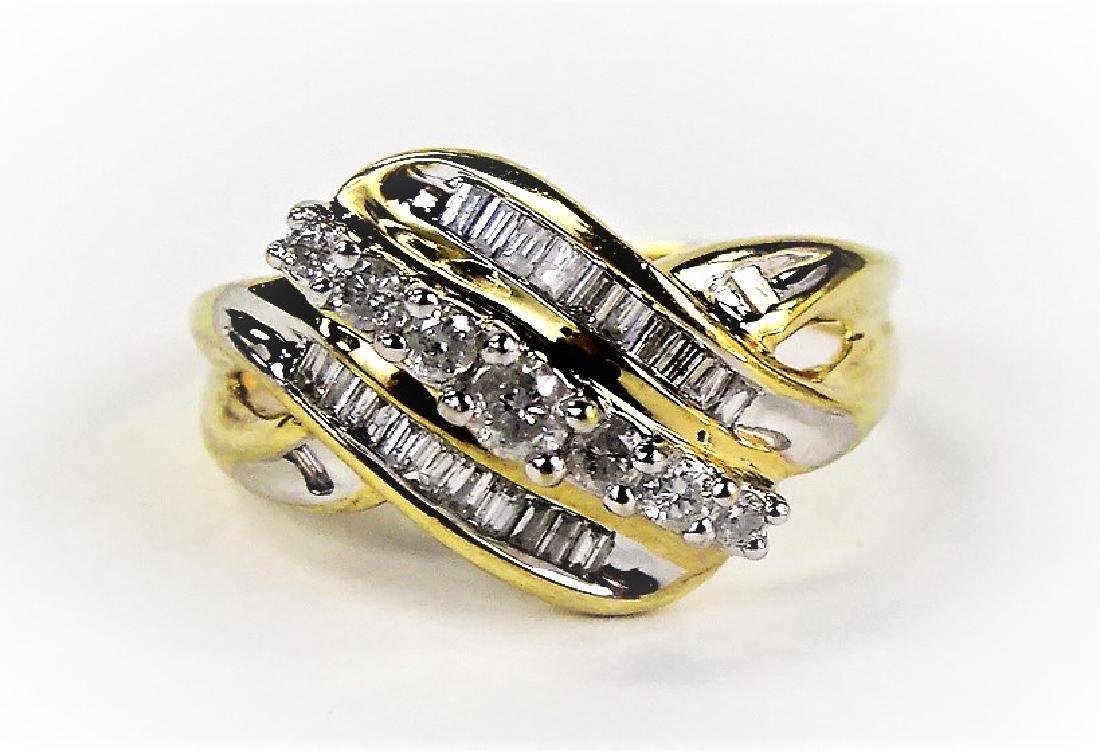 LADIES EXTRAVAGANT 10KT YG DIAMOND RING - 2