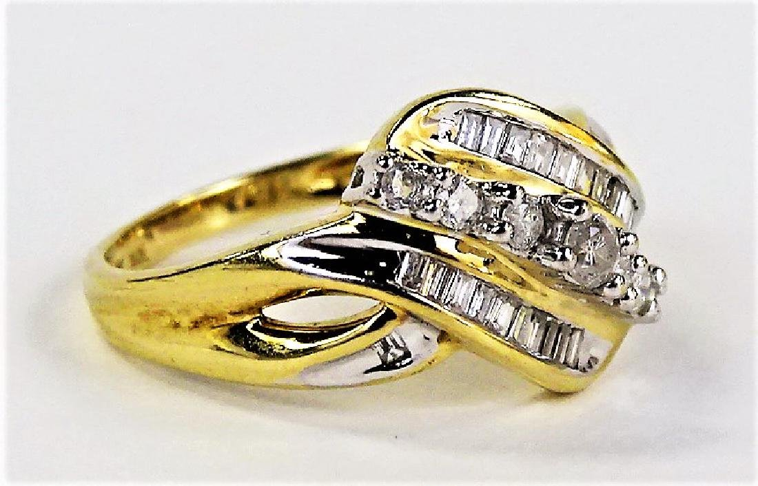 LADIES EXTRAVAGANT 10KT YG DIAMOND RING - 3