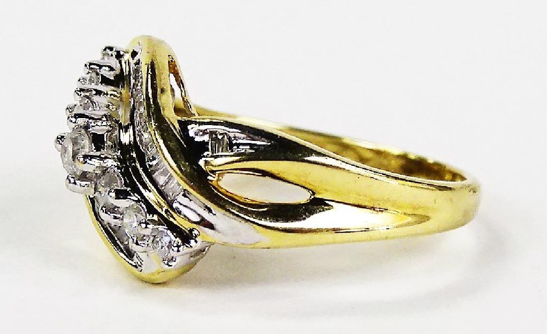 LADIES EXTRAVAGANT 10KT YG DIAMOND RING - 4