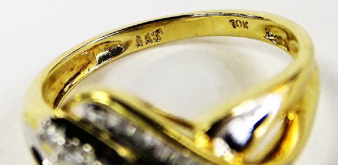 LADIES EXTRAVAGANT 10KT YG DIAMOND RING - 5