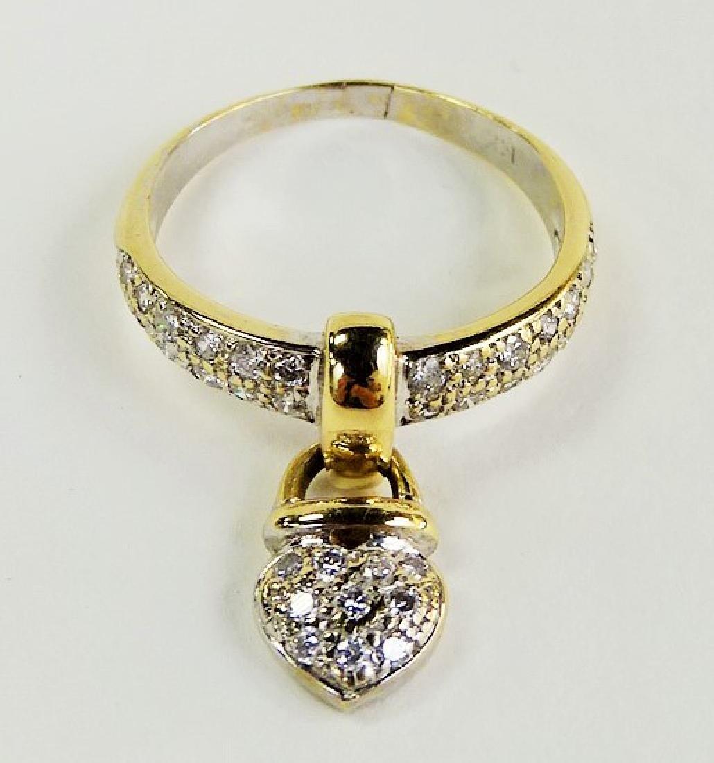 LADIES FANCY 14KT YELLOW GOLD DIAMOND COLLAR RING