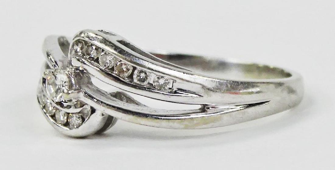 LADIES ELEGANT 14KT WHITE GOLD DIAMOND RING - 2