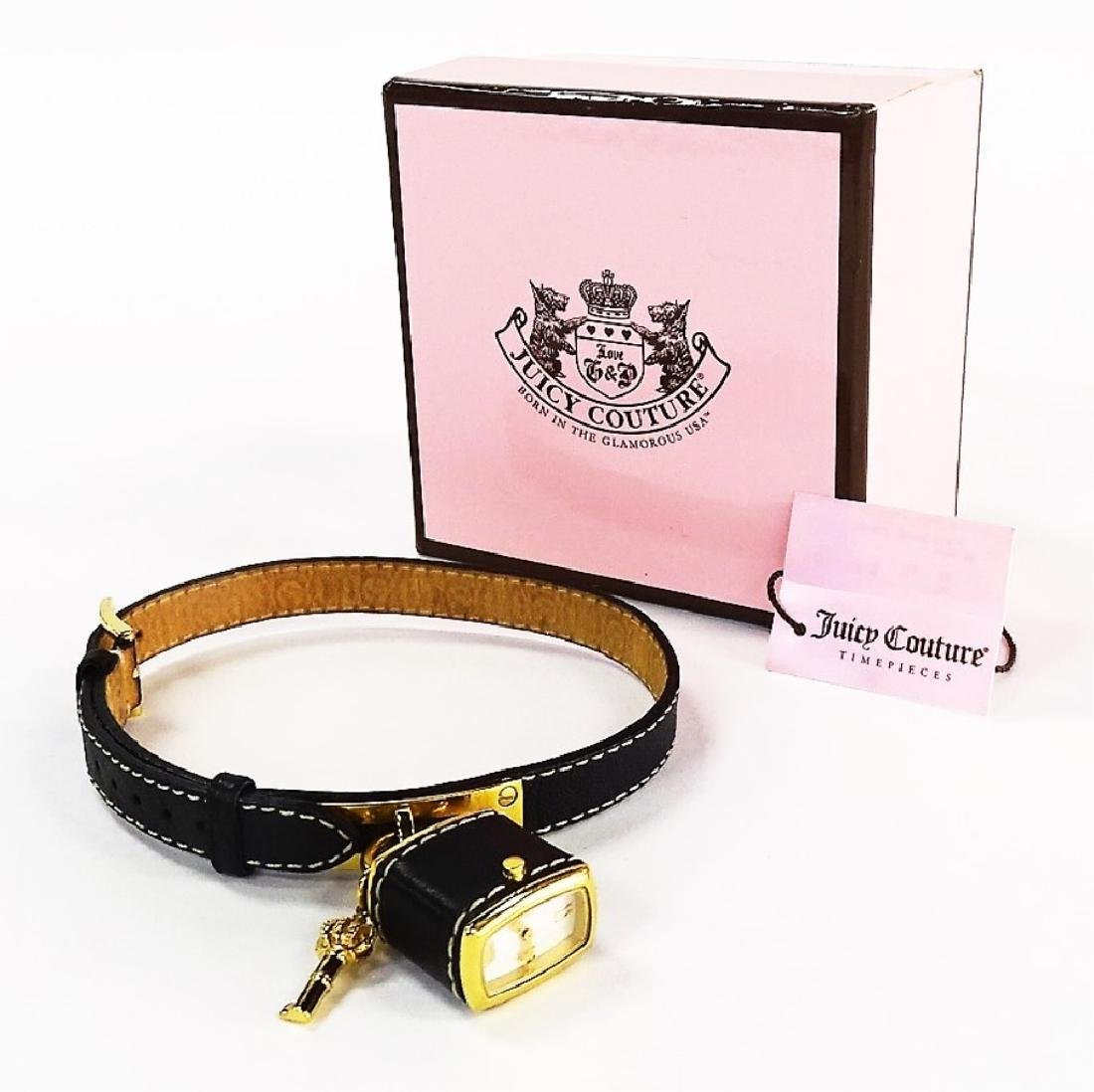JUICY COUTURE LEATHER WRAP BRACELET NEW IN BOX - 2