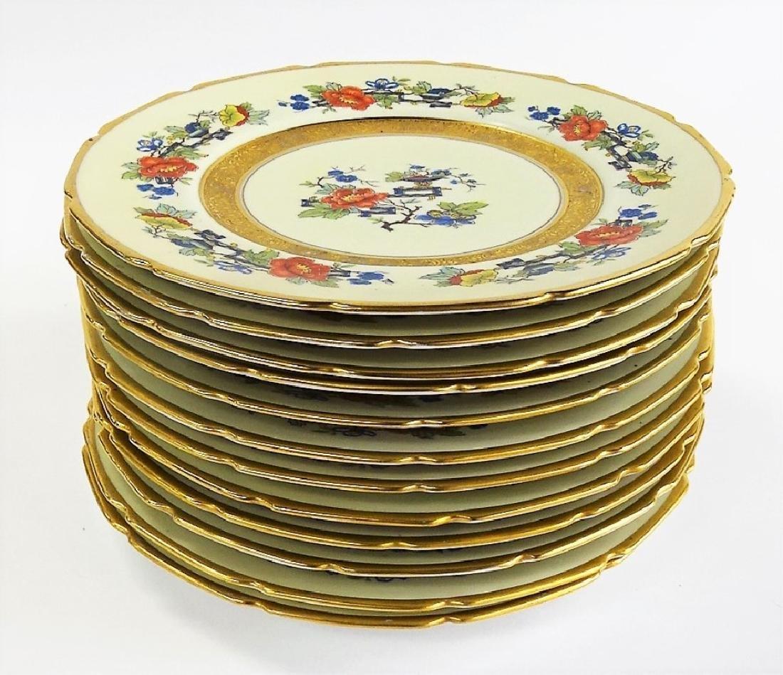 12 PHOENIX DECORATED CZECH PORCELAIN DINNER PLATES - 2