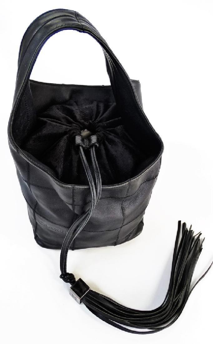 CHANEL SURPIQUE LEATHER DRAWSTRING BUCKET BAG - 2