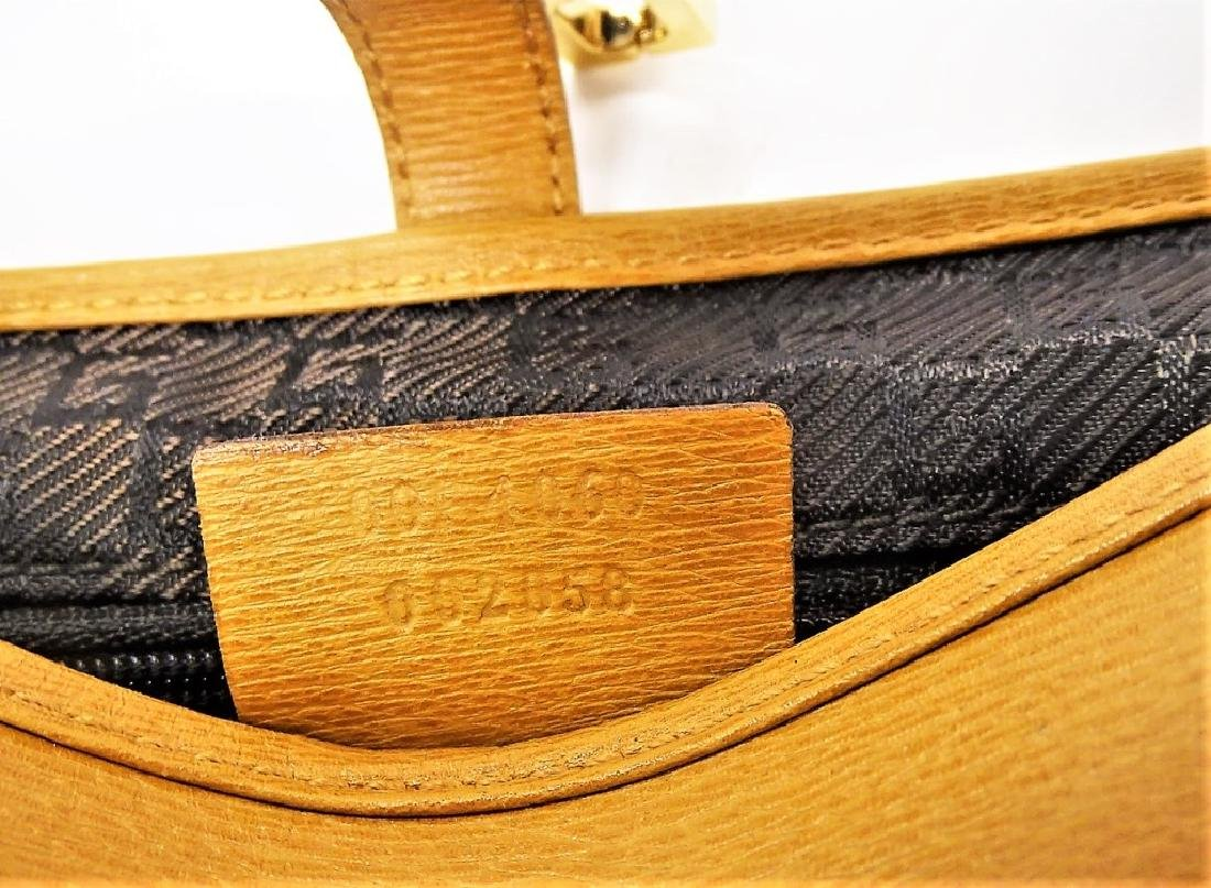 GUCCI TAN LEATHER BAMBOO HANDLE HANDBAG - 4